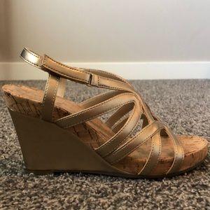 Aerosoles Lux Plush Wedge Sandals